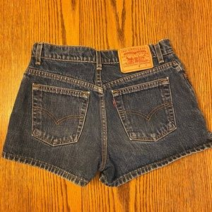 Vintage Levi's jean shorts made in USA